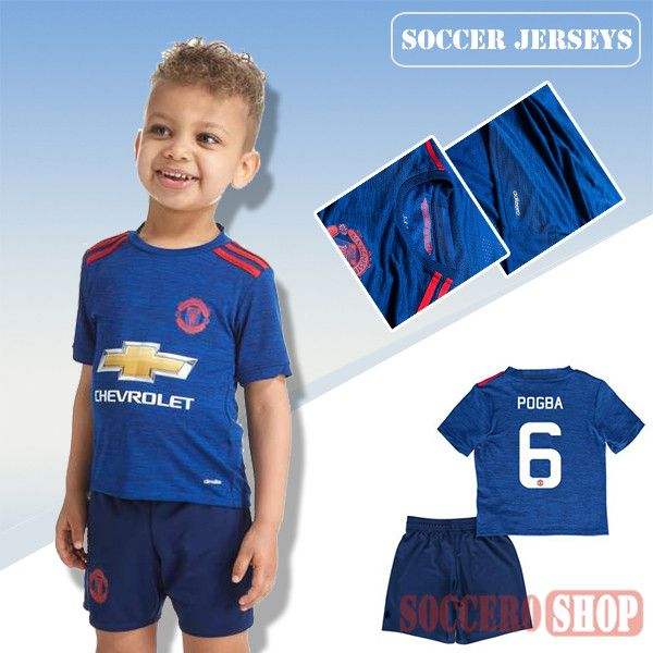 buy popular af396 e01cb Newest Cool Manchester United Blue 2016-2017 Away Kids ...