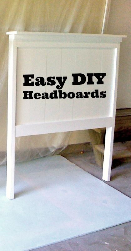 Super easy to make headboards for my guest bedroom for for Simple headboards