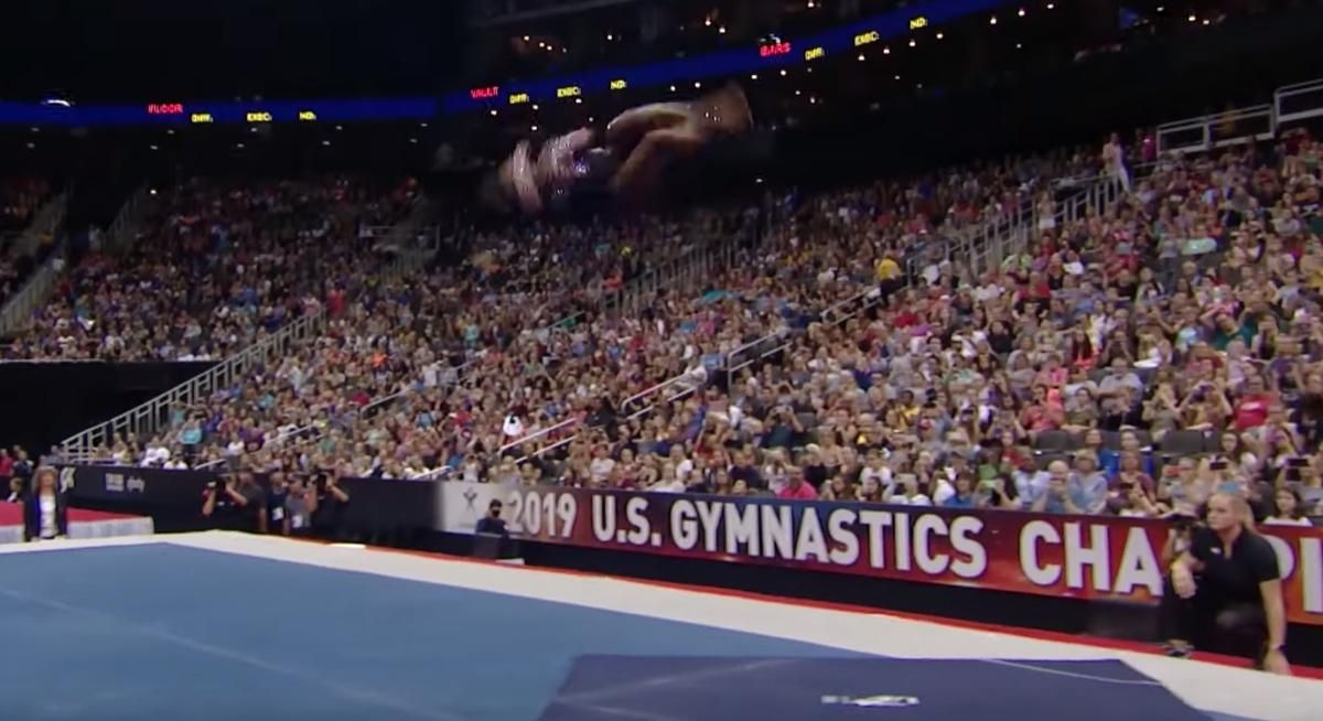 Simone biles is impossible first female gymnast to