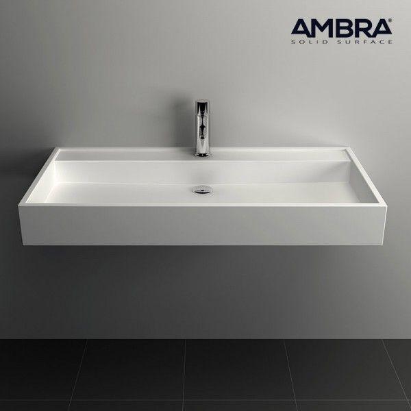 ambra vasque 90 cm en solid surface poser ou. Black Bedroom Furniture Sets. Home Design Ideas