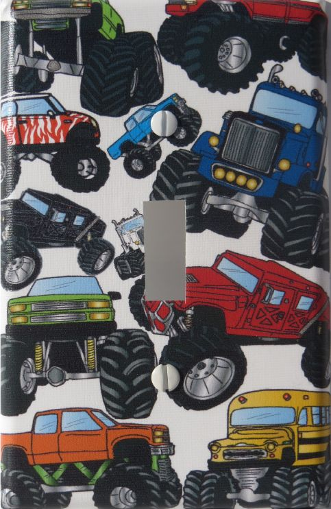 Monster Truck Light Switch Plates Covers Wall Decor Single