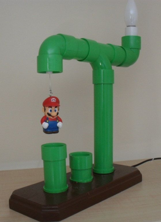 g nial super mario green tube lampe par lsemporium sur. Black Bedroom Furniture Sets. Home Design Ideas
