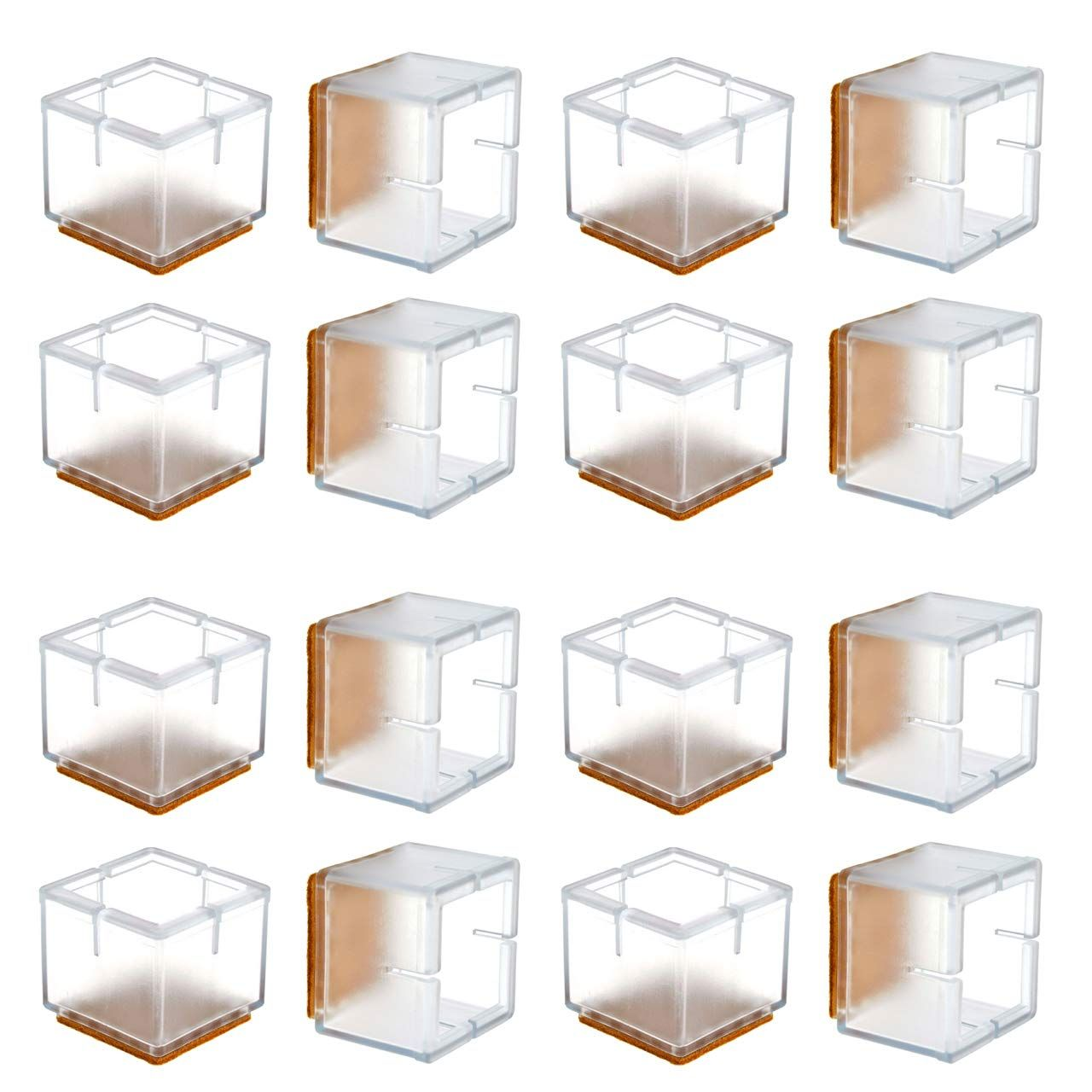 Chair Leg Floor Protectors Warmhut 16pcs Transparent Clear Silicone Table Furniture Leg Feet T Furniture Legs Scratched Wood Floors Chair Leg Floor Protectors