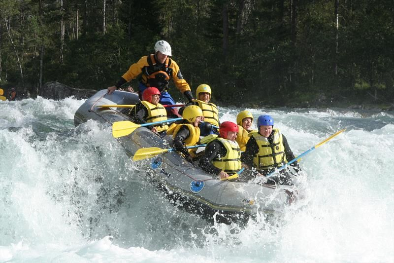 Rafting in Voss, just north of the Hardangerfjord, Norway. Photo by Voss Rafting Senter.