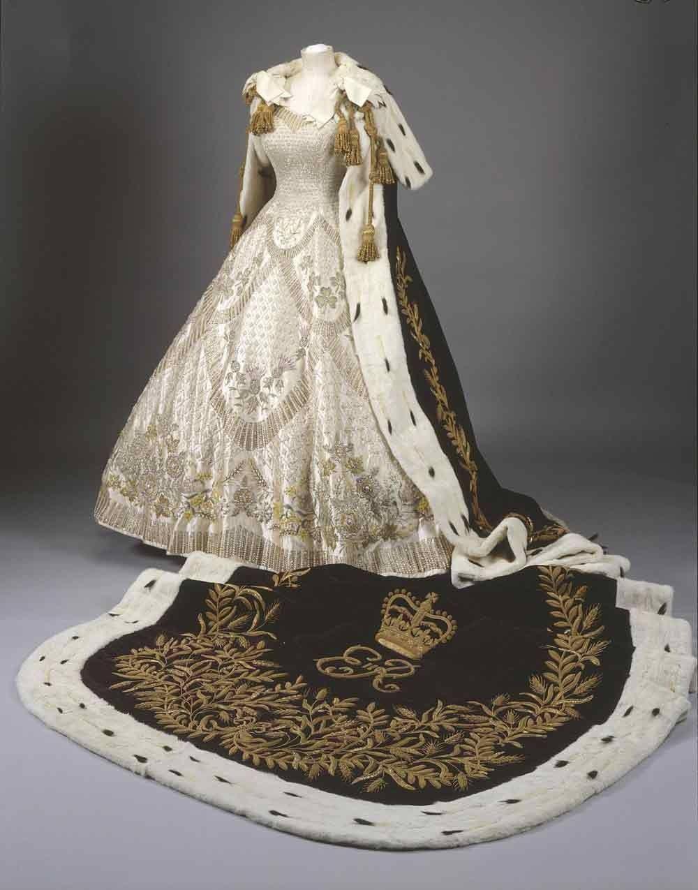 Coronation Robe of Queen Elizabeth II designed by Norman Hartnell 1953