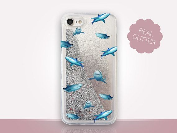 sneakers for cheap 41b7c 43593 Shark Glitter Phone Case Clear Case For iPhone 8 iPhone 8 Plus ...