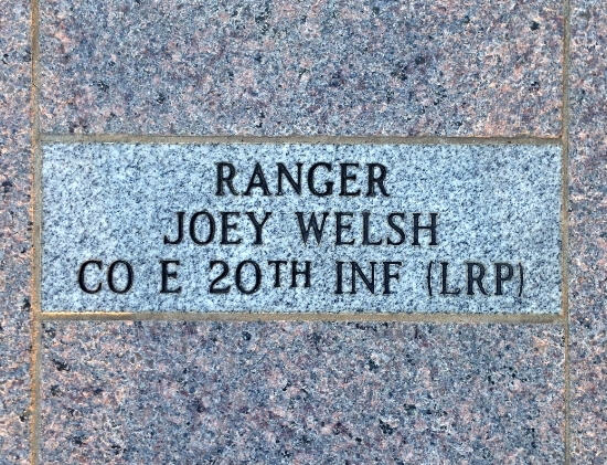 Rgr Brick At The Rgr Memorial In Ft Benning Ga Which Contains Bricks From Wwii Till The Present Note The Bricks All Say The Same On The First Line Ra Ranger