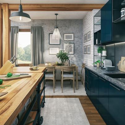 Inspirujace Projekty Kuchni Leroy Merlin Blue Kitchen Cupboards Grey Kitchen Cupboards Grey Walls