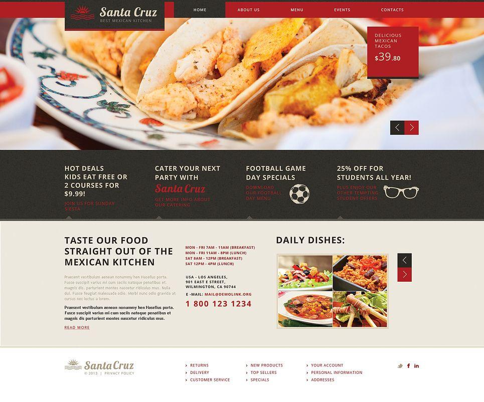 mexican restaurant responsive website template restaurant mexican responsive