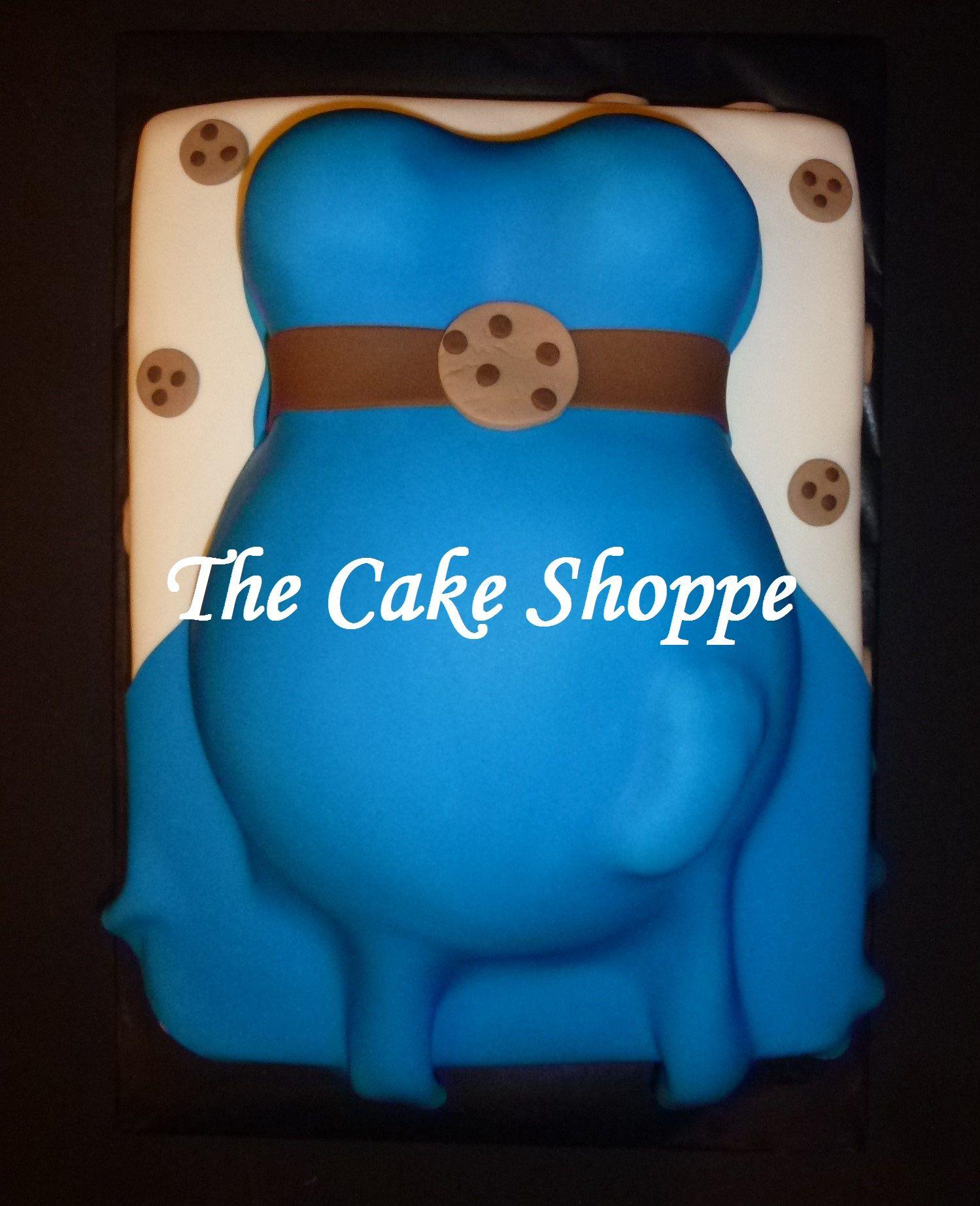 Lovely Cookie Monster Baby Shower Cake
