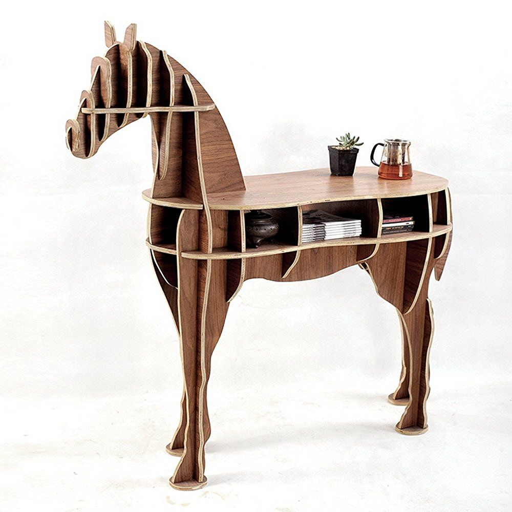 Amazon Com Other Home Office Wooden Horse Style Desk Black  # Muebles Liga Trace