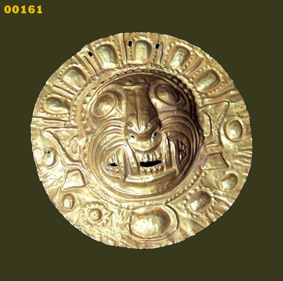 Arte Y Cultura Tairona Gold Jaquan Effigy Pendant Found In Columbia Tairona And Dates
