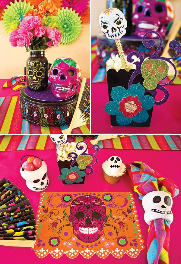 Day Of The Dead Party Día De Los Muertos Hostess With The Mostess Day Of The Dead Party Dia De Los Muertos Party Ideas Sugar Skull Party