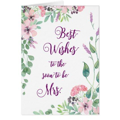 best wishes bridal shower gift tag greeting card 270 by heartsongnotes custom gift idea
