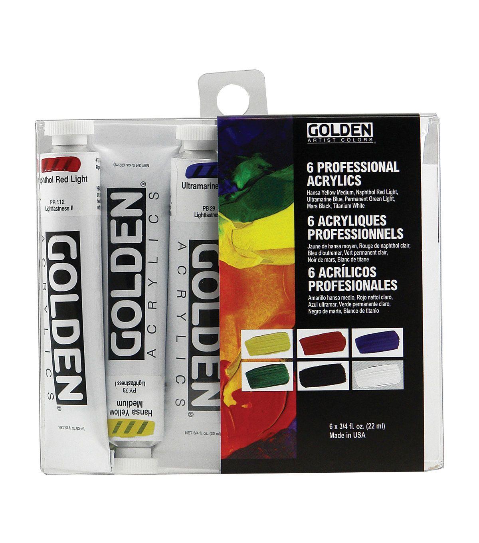 Golden Artist Colors 6 pk 0.75 fl. oz. Professional
