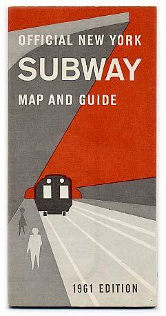 New York subway guide, 1961