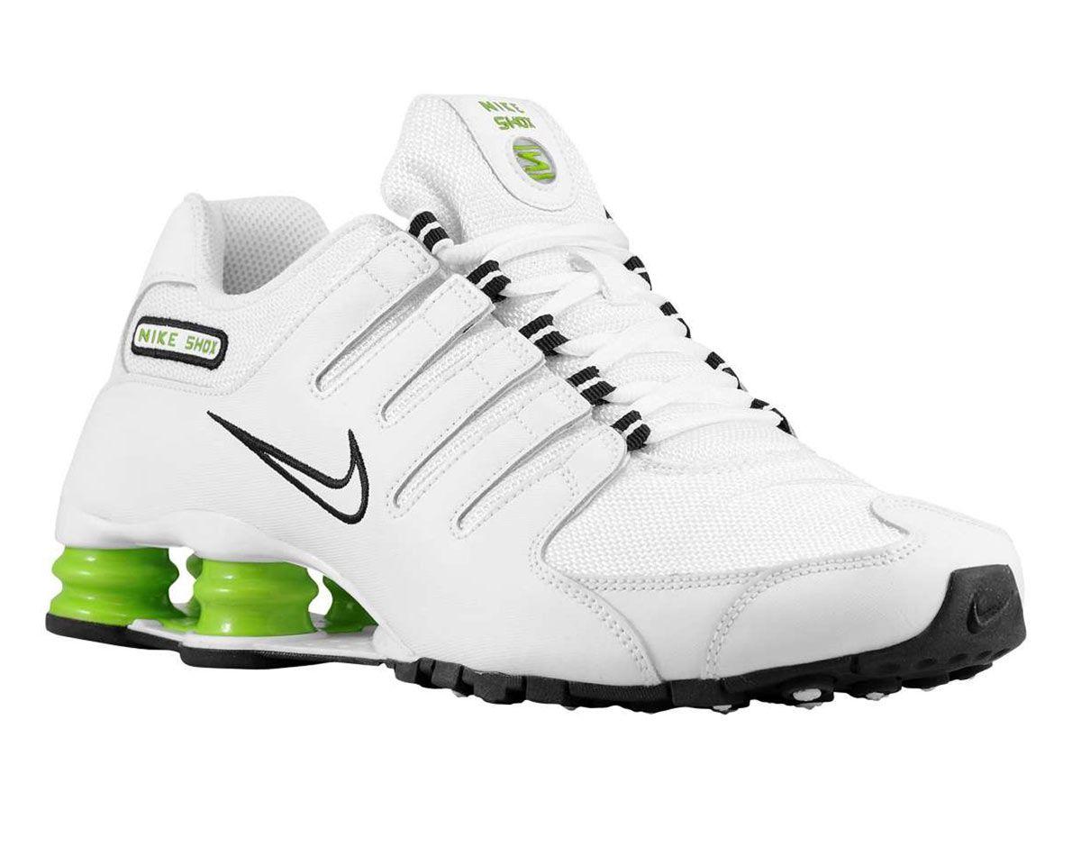 3f8fc4be2b Tênis Masculinos Tênis Nike Shox Nz Si Masculino Branco E Verde ...