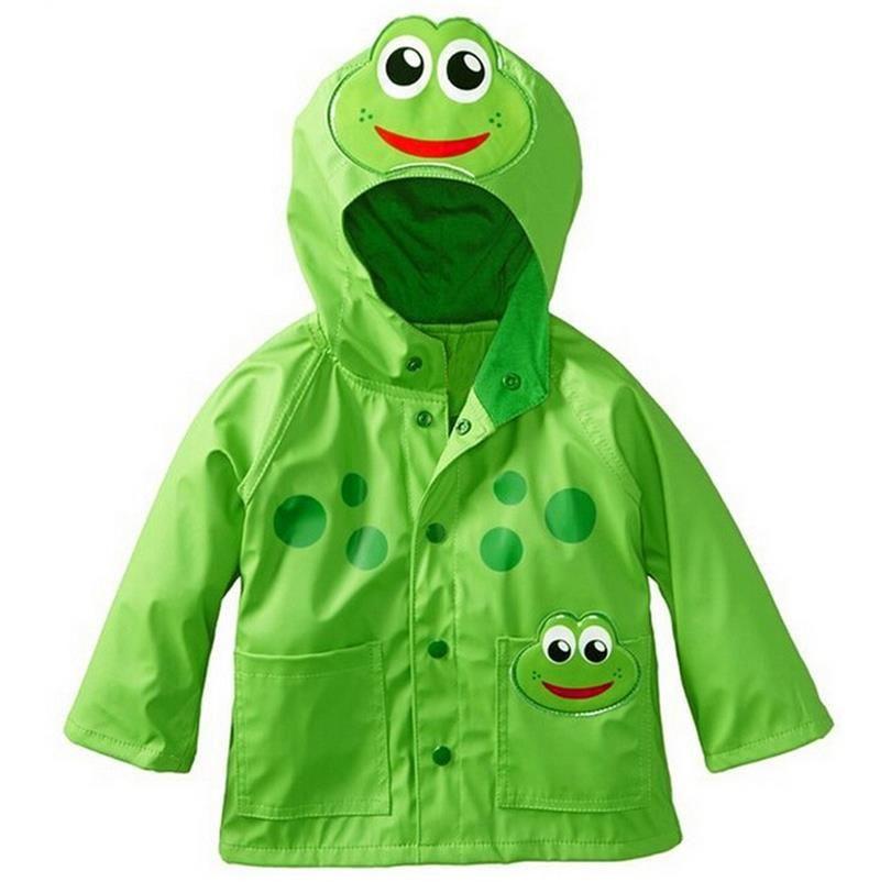 Click to Buy << European and American children's Raincoat Frog Wind Rain  Ski-wear Child Girls hooded ja…   Boys rain coat, Childrens rain coats,  Baby boy jackets