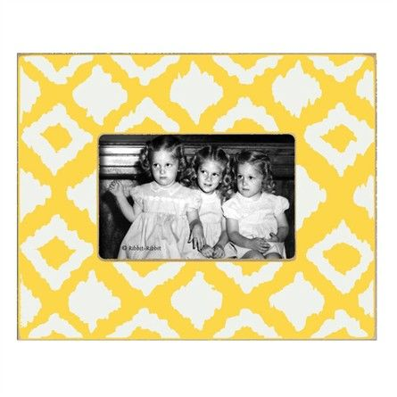 Ikat Lemon Picture Frame