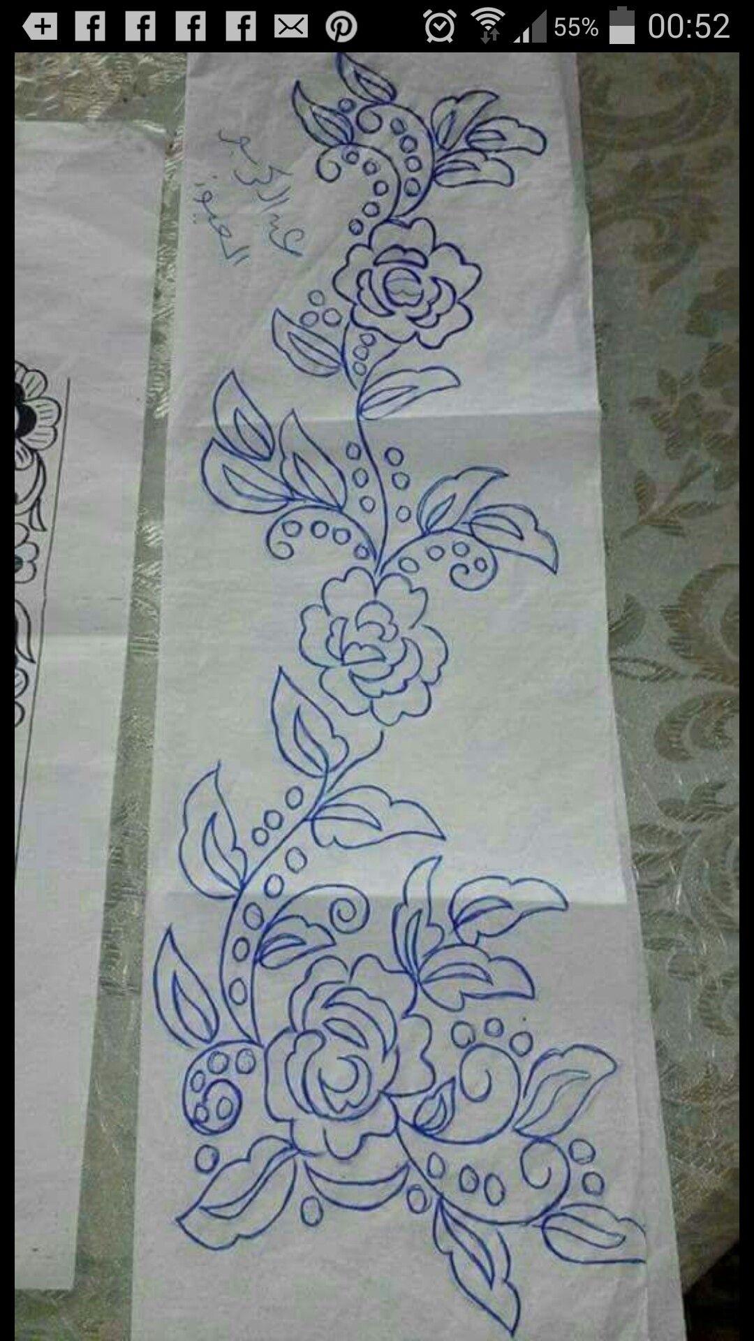 Pencil Sketch Embroidery Designs