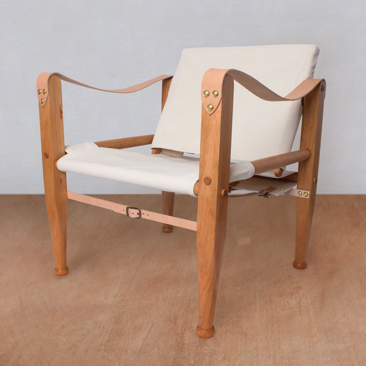 Safari Chair, Leather Chair, Lounge Chair, Accent Chair, Campaign Chair,  Sling