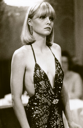 """Michelle Pfeiffer as """"Elvira Hancock"""" in Scarface    also the inspiration for my current do... kinda lol"""