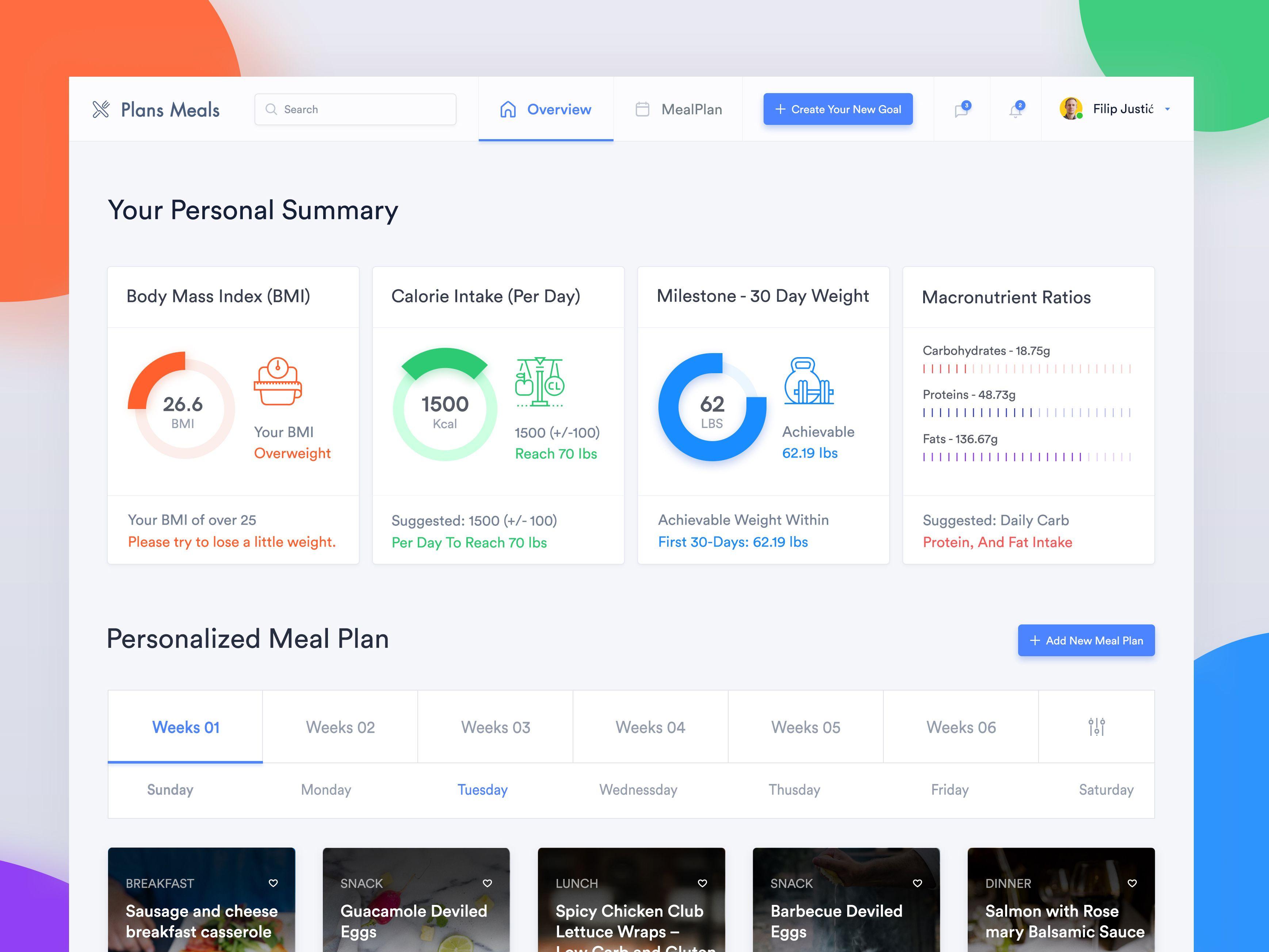 Meal Plan Web Application Design Web App Design App Design Web Application Design
