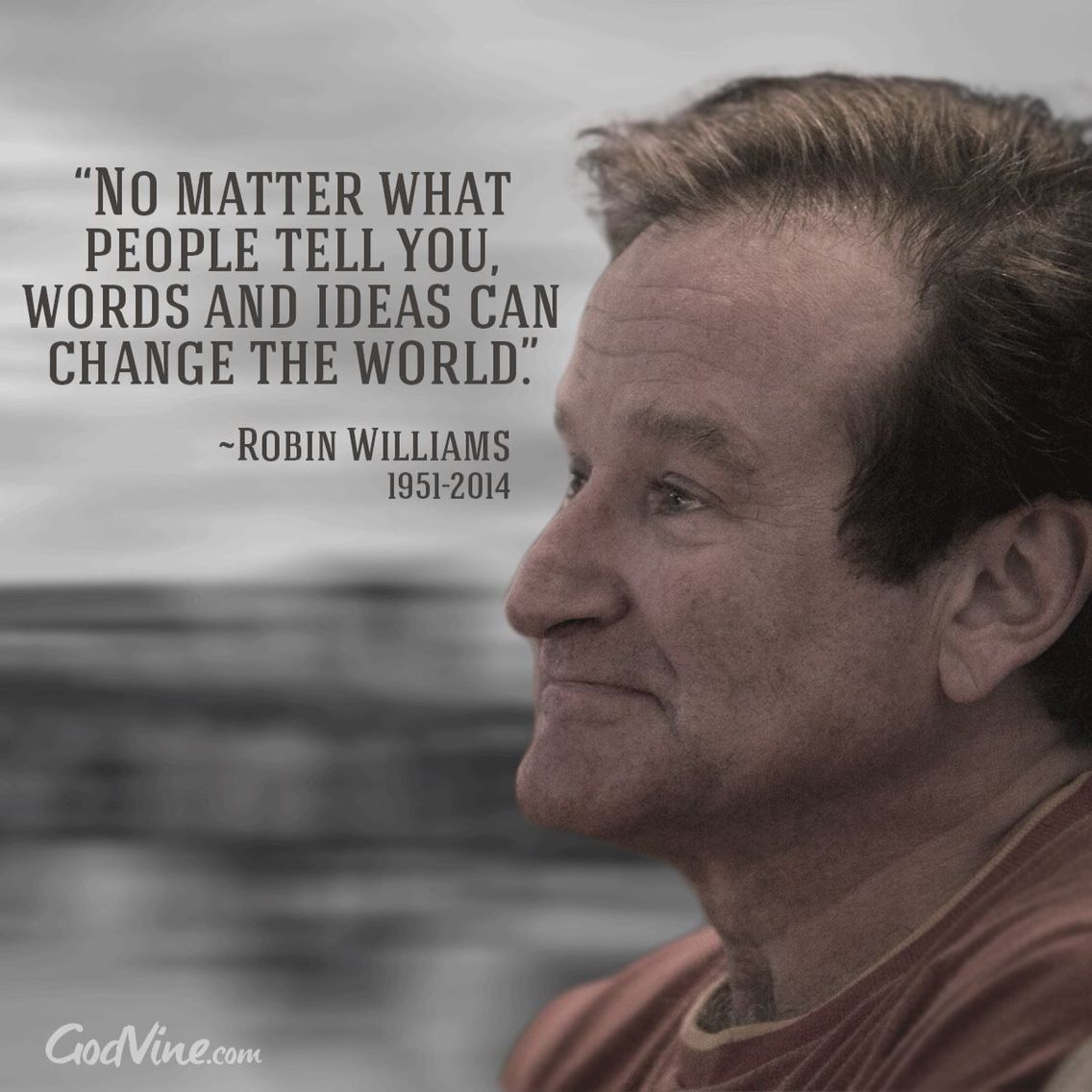 No matter what people tell you, words and ideas can change the world. ~Robin Williams~