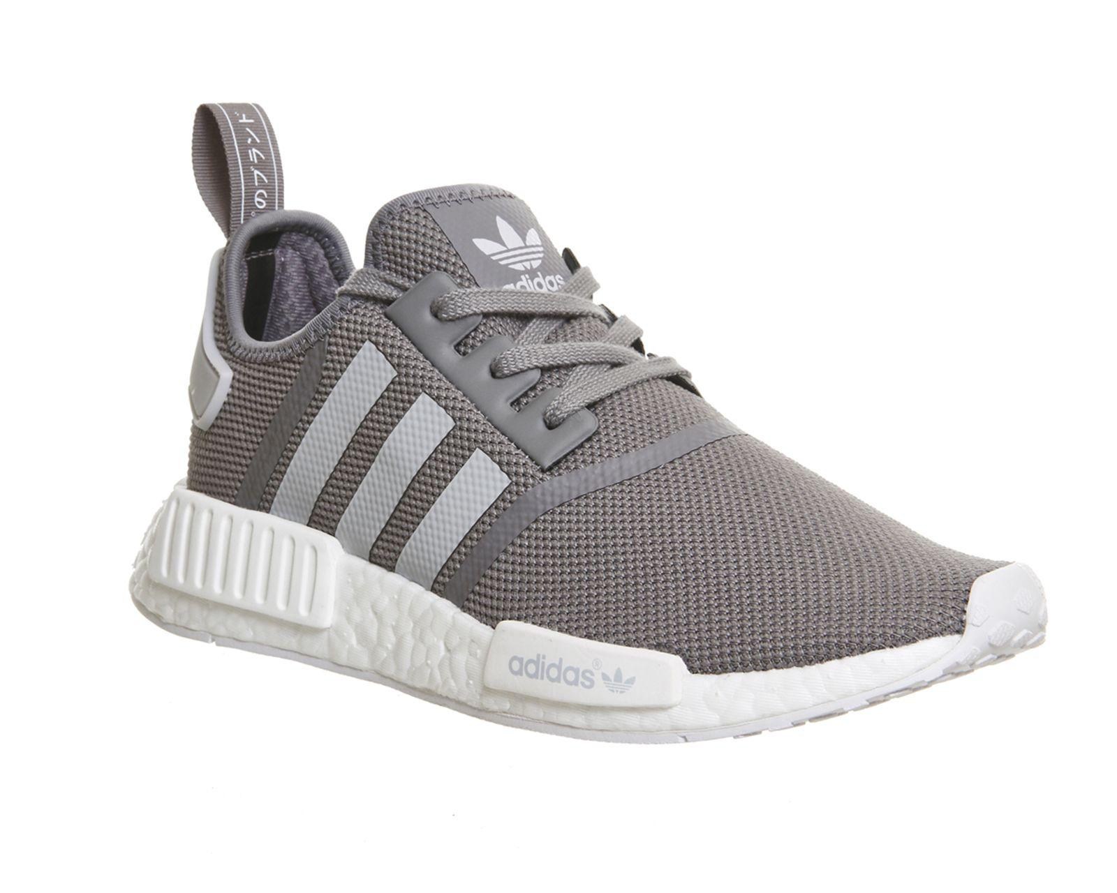 adidas black & grey nmd r1 trainers