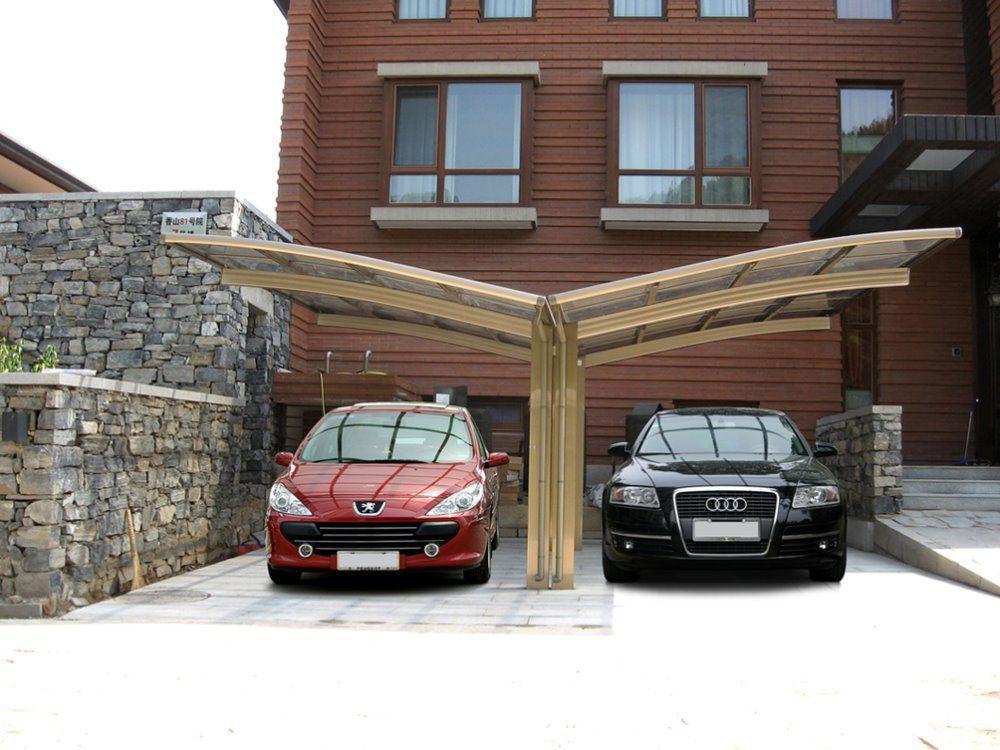 garde aluminum carport with polybonate sheet roof car shelter uv car shade car canopy car. Black Bedroom Furniture Sets. Home Design Ideas