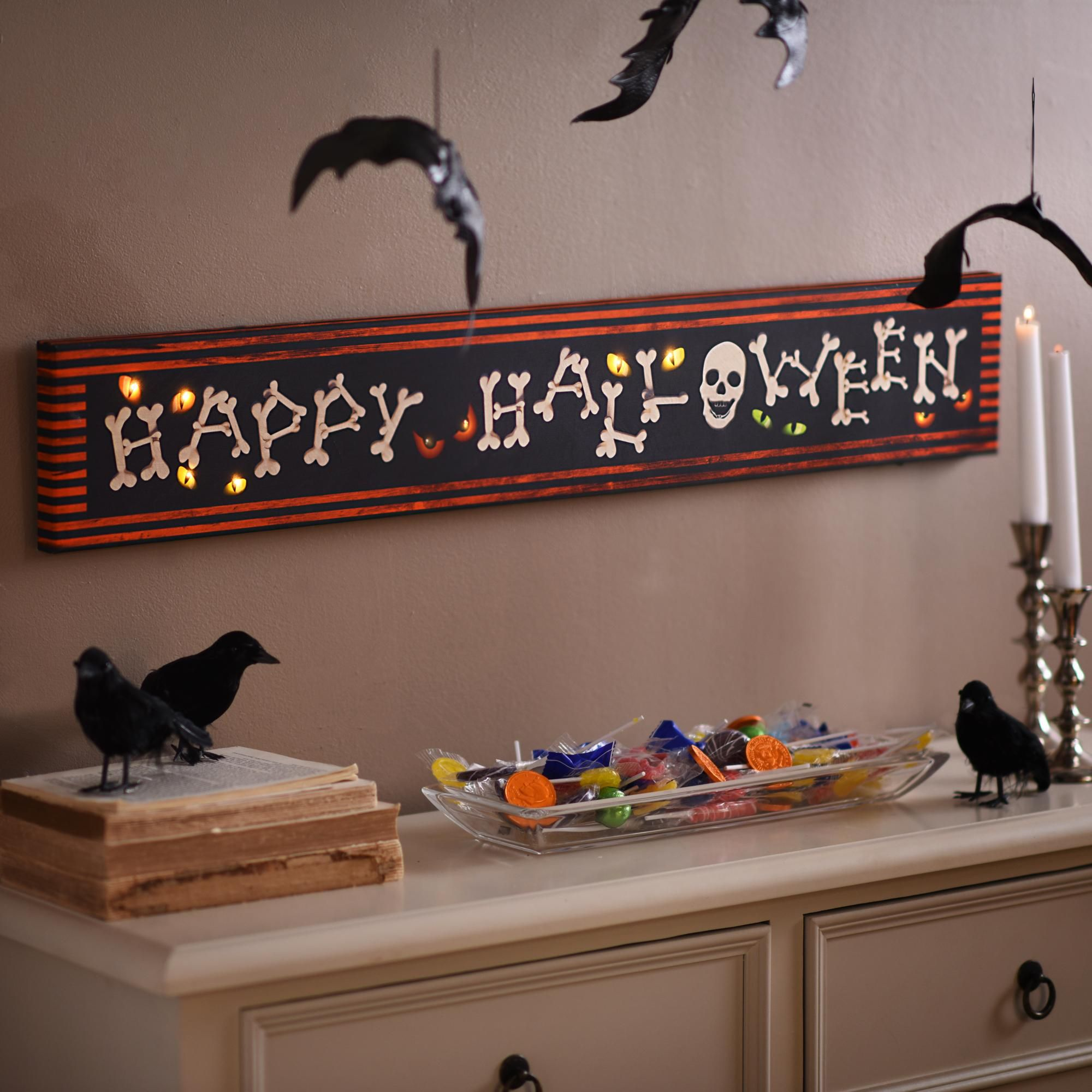 Happy Halloween LED Canvas Art Print