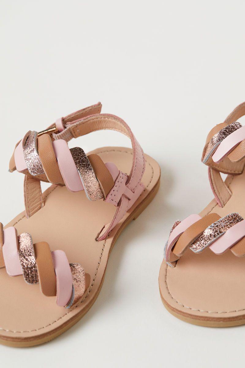 Leather Sandals Light Pink Kids H M Us Con Imagenes