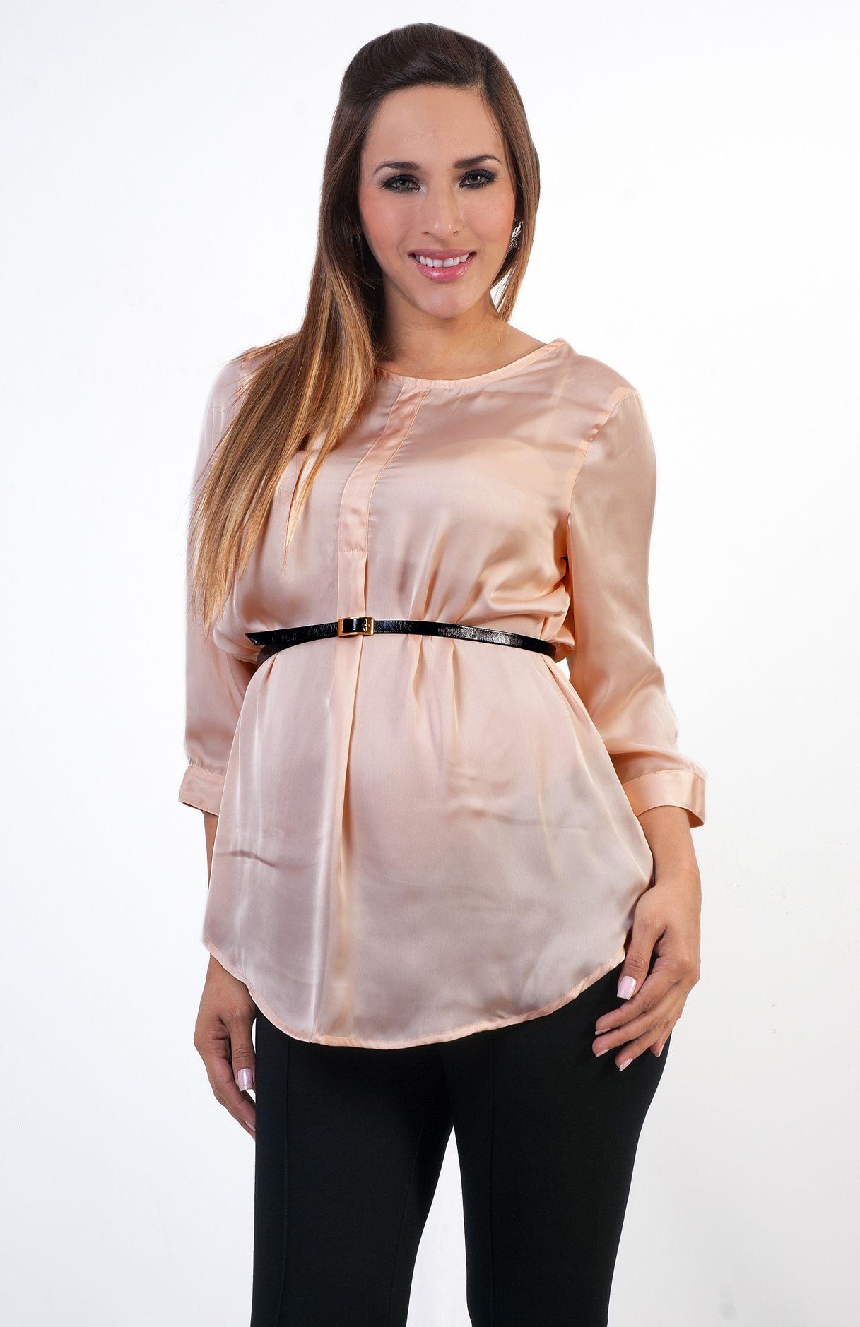 1bde8368d ropa de maternidad  blusadematernidad  maternityblouse de seda   Athinamaternity