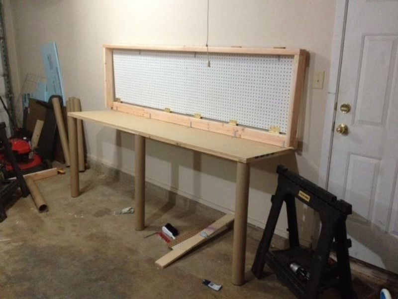 How To Build A Wall Mounted Folding Workbench Folding Walls