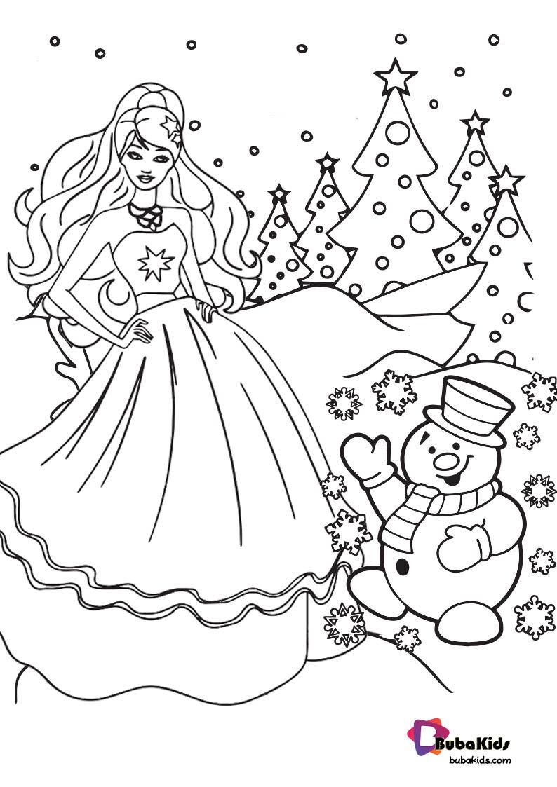 Easy Barbie Christmas Coloring Pages Christmas Barbie Cartoon Coloring Pages Coloring Pages