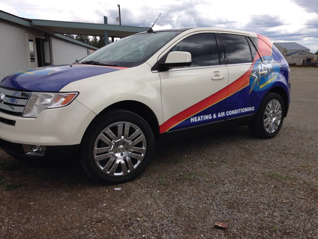 Look For Our Brand New Ford Escape Around Town Lisa Invested In The Sparkle Wrap Who Said Company Car Wraps Can T Be Pretty Hvac Car Wrap Ford Escape Car