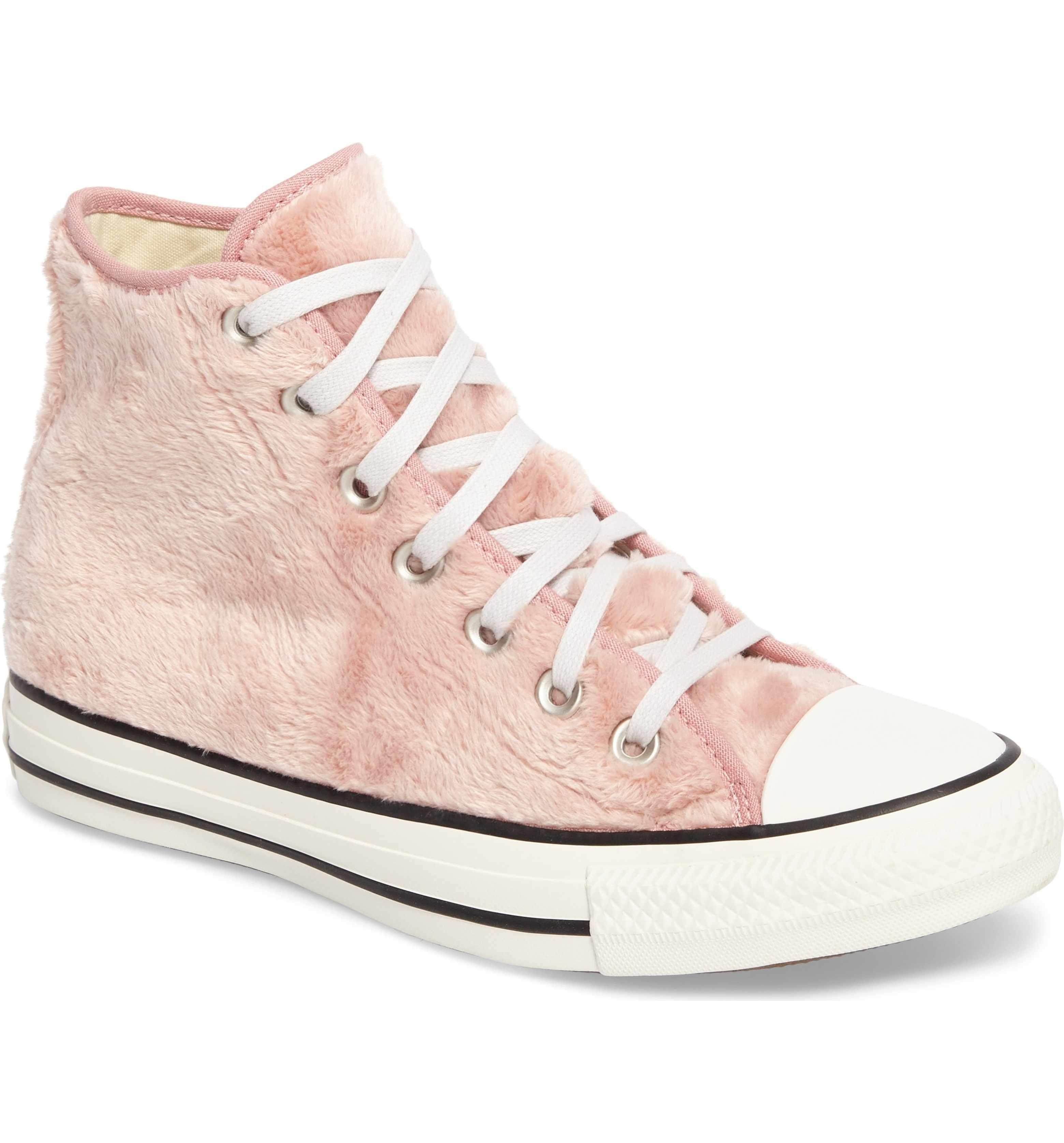 Faux Fur High Top Sneakers (Women