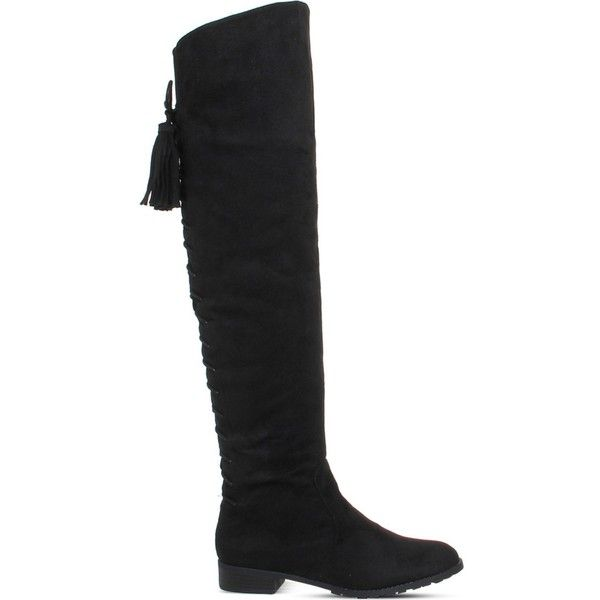 Office Knock Faux Suede Over The Knee Boots 105