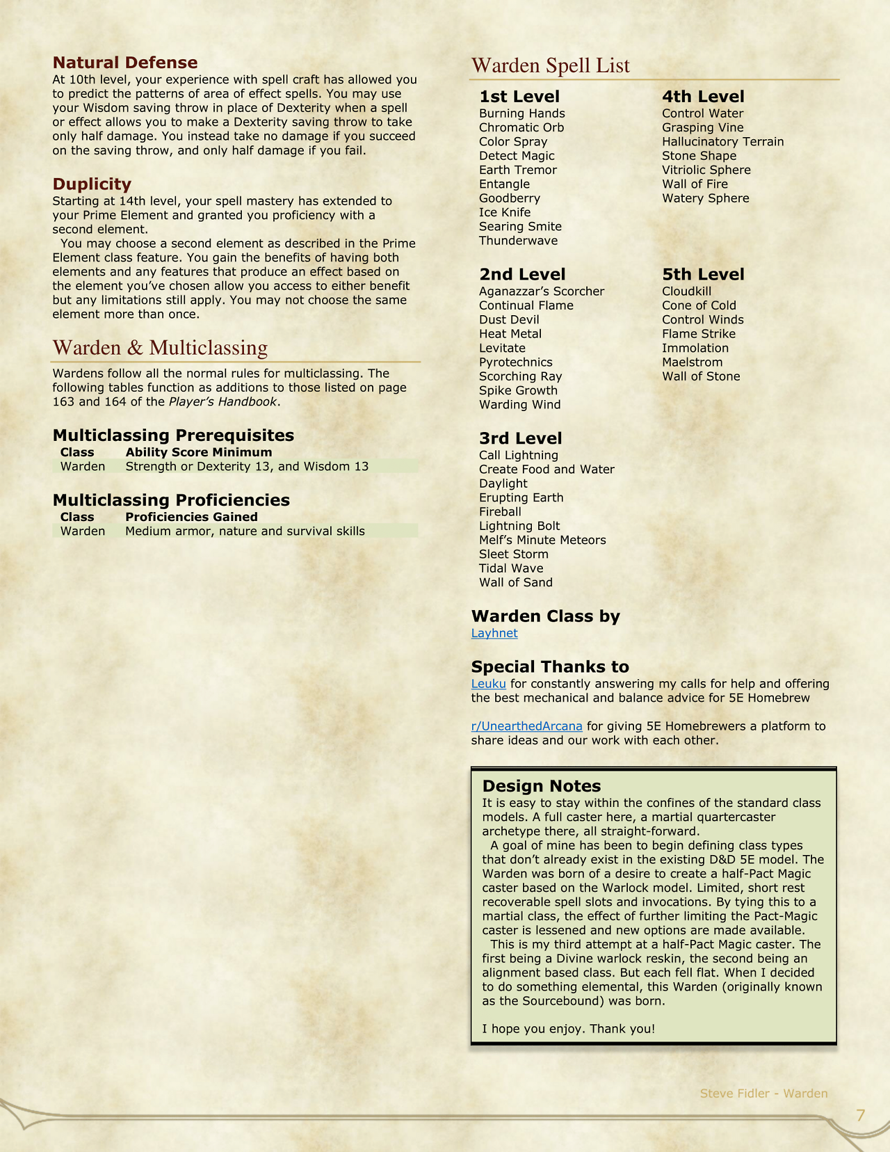 Dnd 5e Homebrew Warden Class By Layhnet Warden Dnd 5e Homebrew Dnd Classes You create a seismic disturbance at a point on the ground that you can see within range. dnd 5e homebrew warden class by