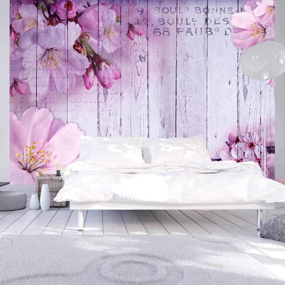 details zu fototapete holz optik bretter vlies tapete blumen wandbild 3 farben b a 0202 a b. Black Bedroom Furniture Sets. Home Design Ideas