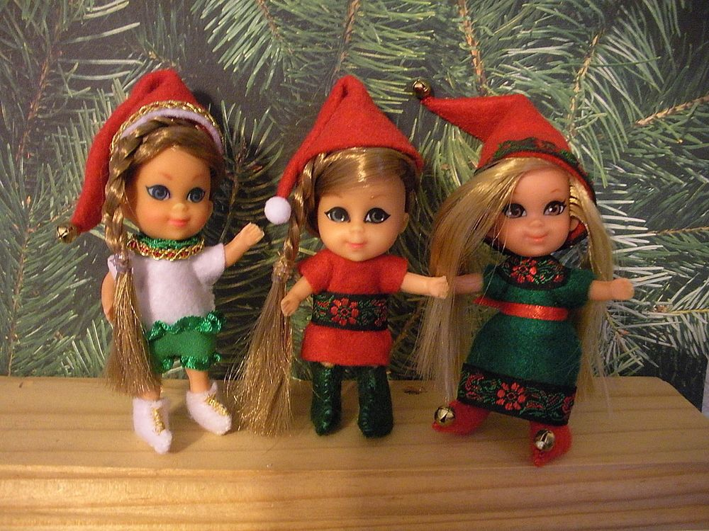 Santa's Liddle Helpers! OOAK Kiddle Kreations-Middle Muffet-Annabelle-Sheila-WOW