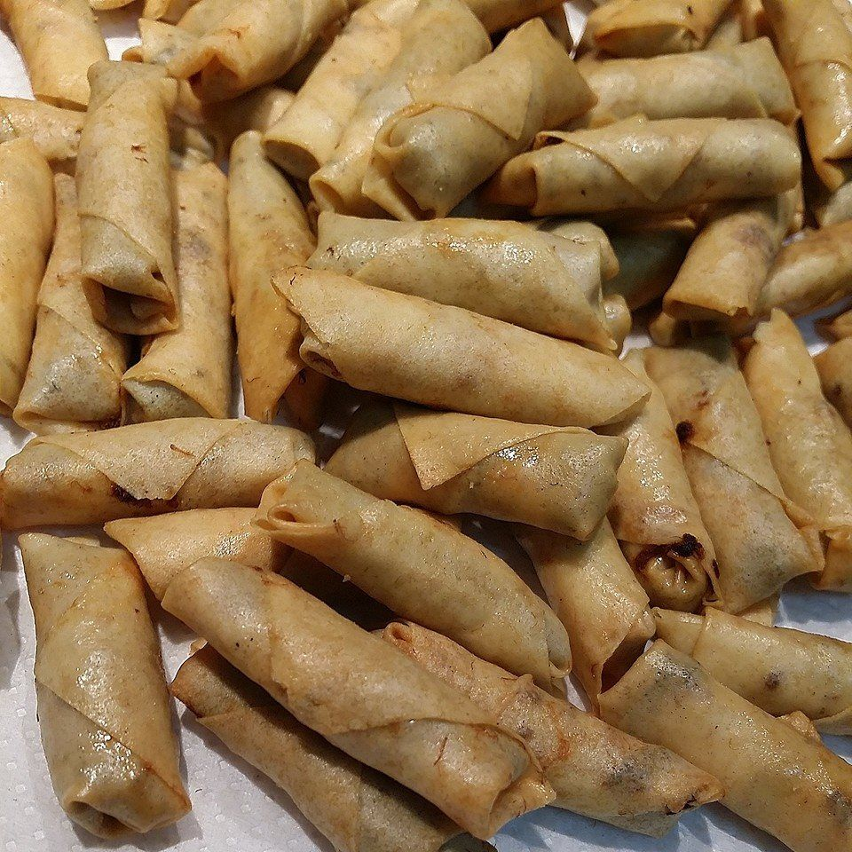 Singapore Home Cooks Airfried Pork Floss Mini Spring Rolls By