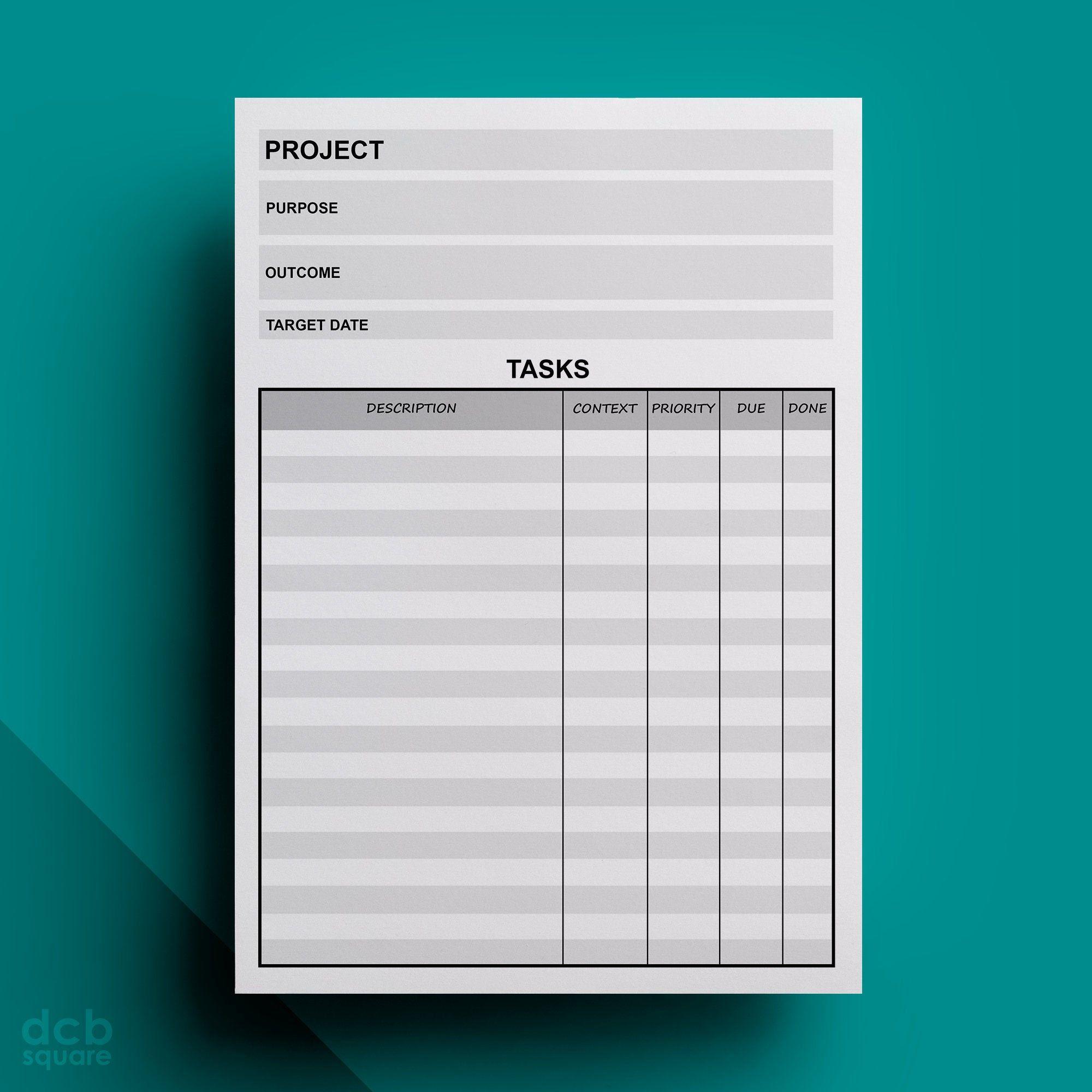 Project Editable Printable