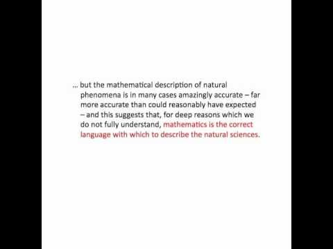 Part 6 - A talk by Professor Jon Keating FRS (University of Bristol) on the unreasonable effectiveness of mathematics in the natural sciences.