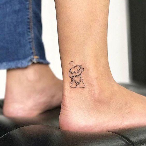 Cute Cute Puppy Tattoo Tattoo Puppytattoo Tattoos Small Dog Tattoos Puppy Tattoo
