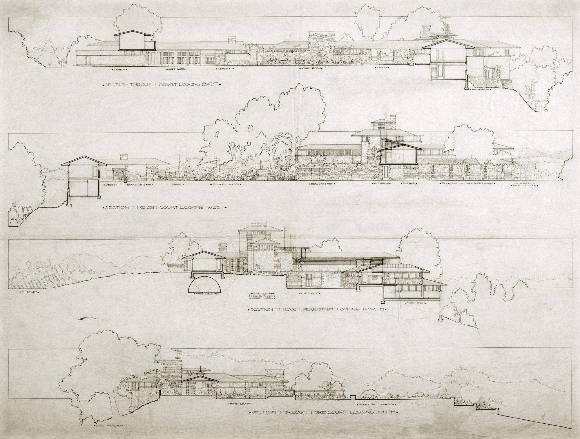 Frank Lloyd Wright Home & Studio, Taliesin II, Spring Green, WI ...