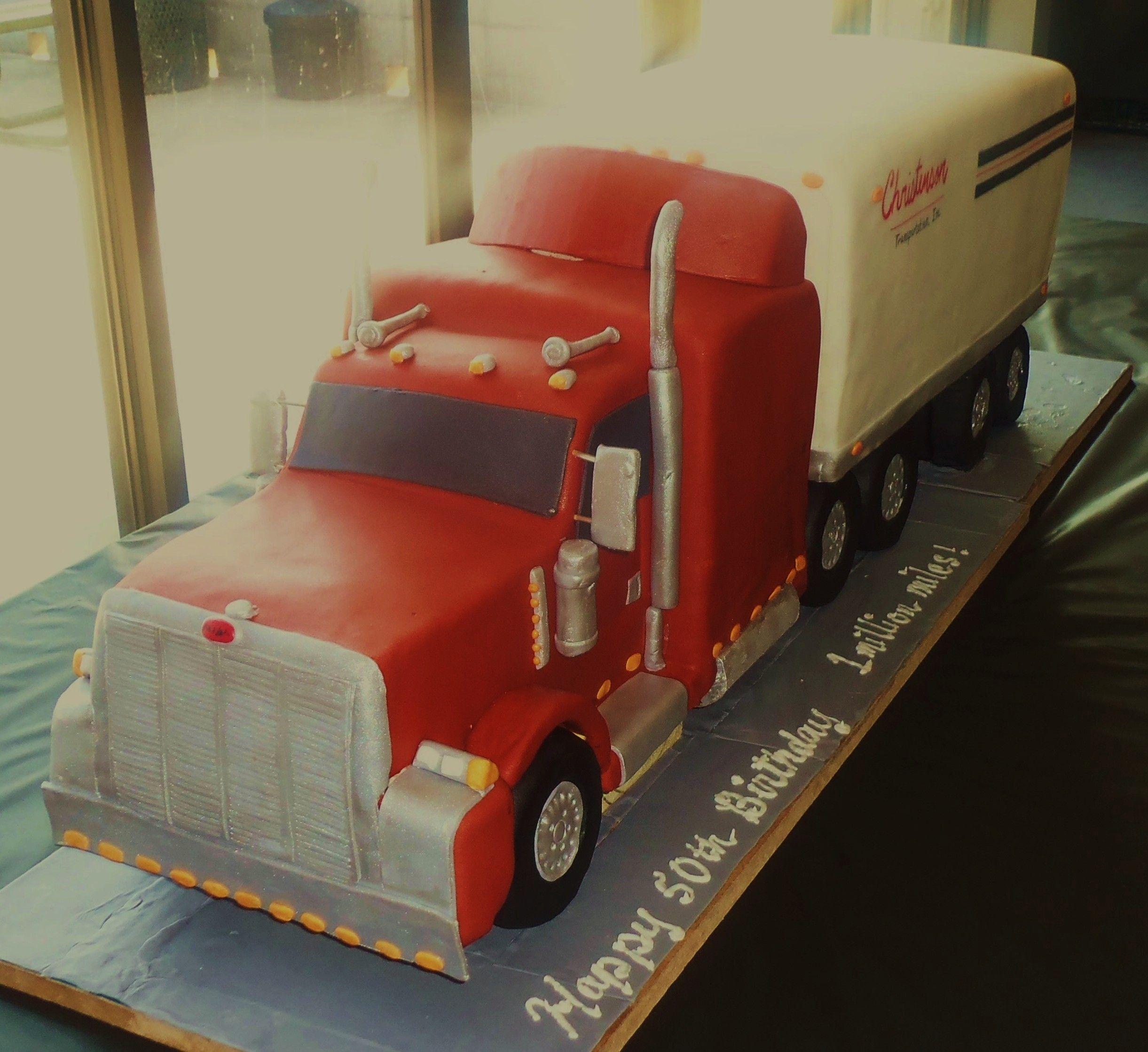 Peterbilt Tractor & Trailer Truck is three quarter