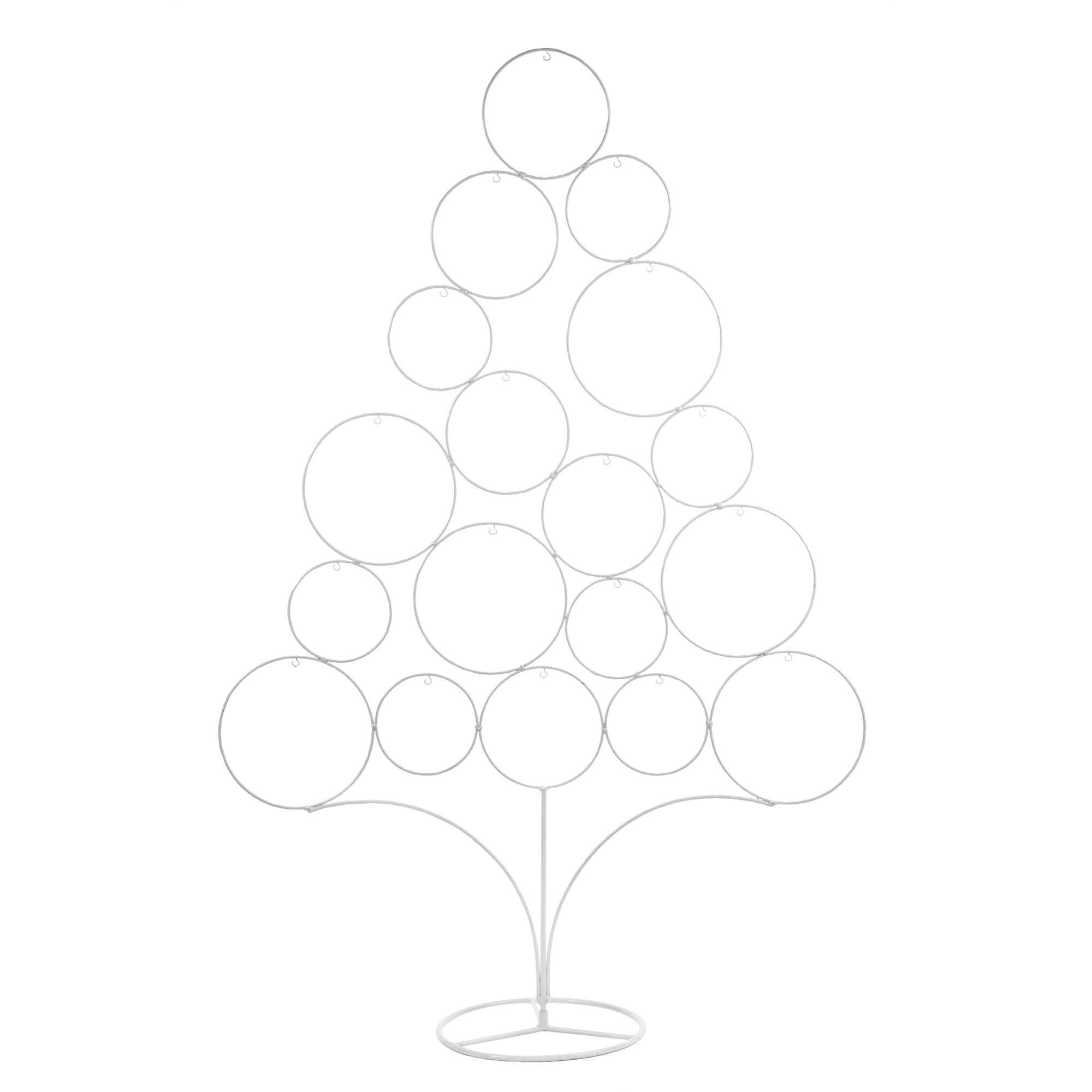 Sapin de Noël en métal blanc H 95 cm BLACKSTAGE