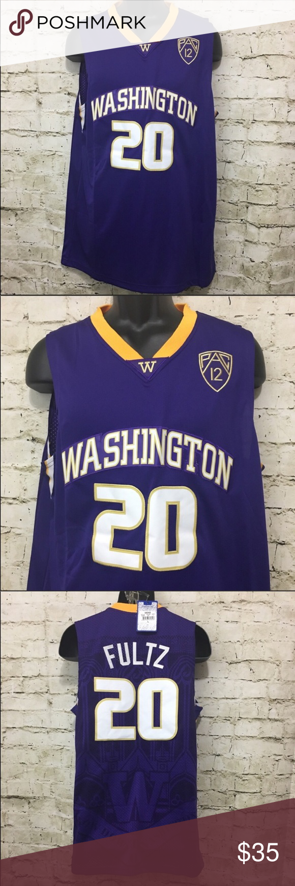 ef860b17af84e Markelle Fultz  20 Huskies Throwback Jersey Size M This is a New With Tags  NBA Brand NCAA PAC 12 Basketball Washington Huskies  20 Markelle Fultz  Purple ...