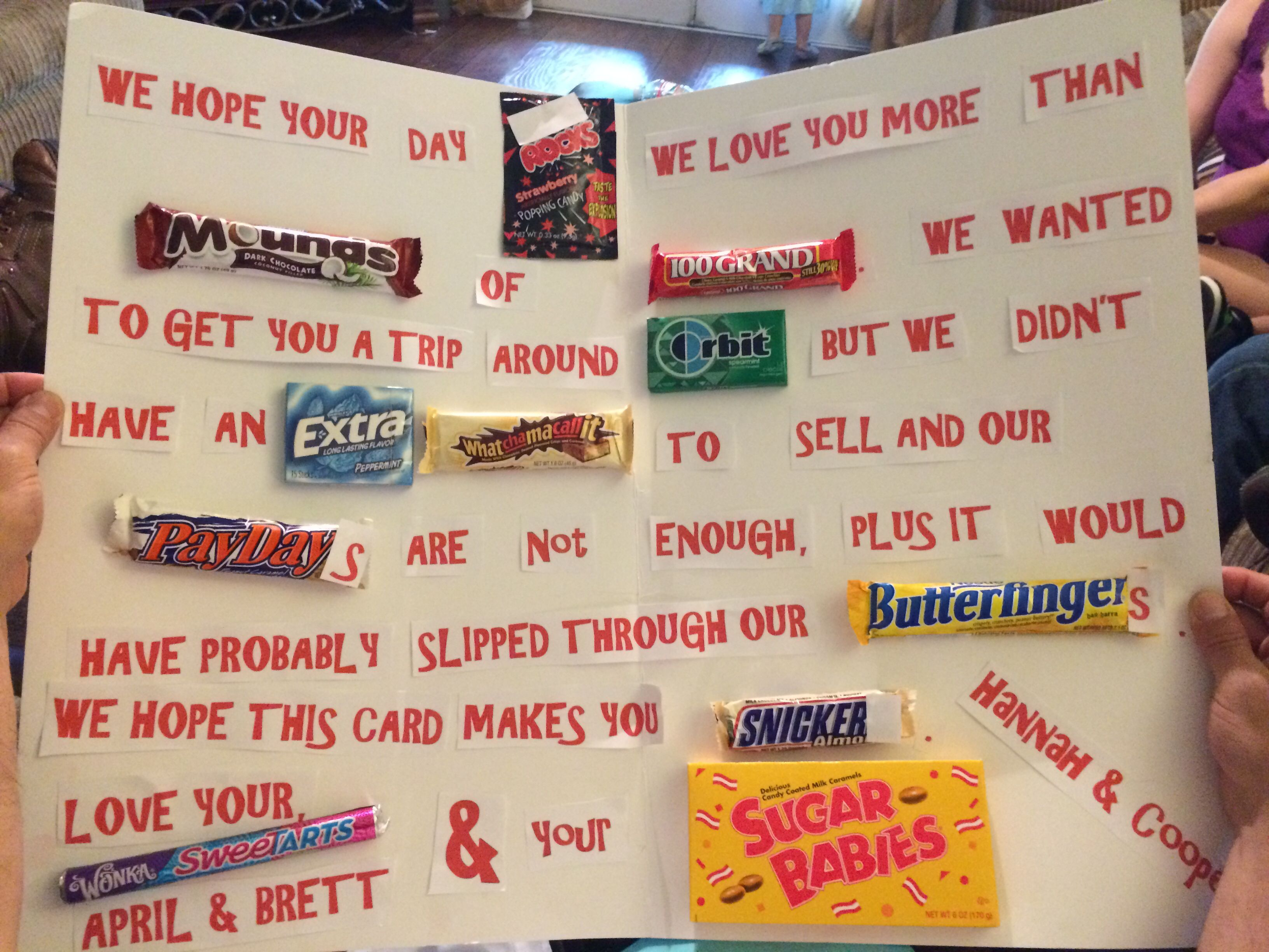 Happy Fathers Day Candy Gram I Made For My Dad